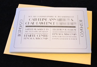 Movie Themed Wedding Invitations