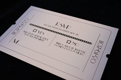movie themed wedding invites