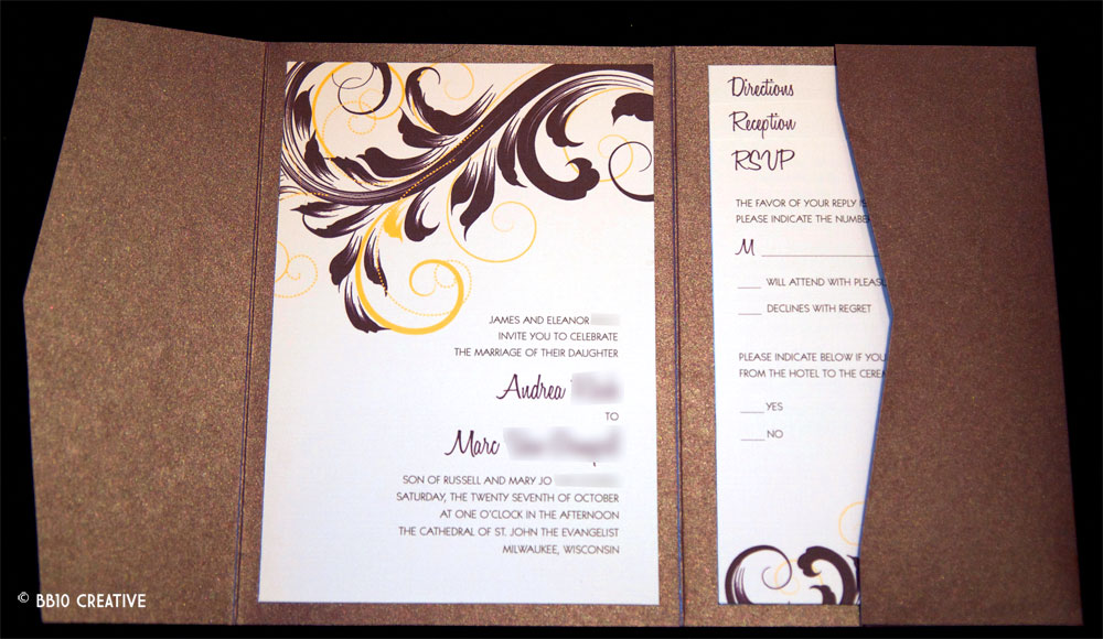milwaukee wedding invitations  u2013 elegant eggplant