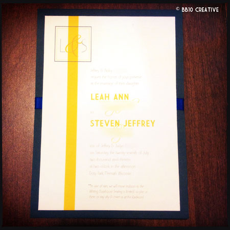 Gray and Yellow Modern Wedding Invitations
