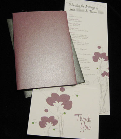 Creative Wedding Invitation and Program