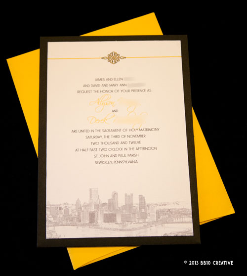 Pittsburgh Theme Wedding Invitation Creative Wedding Invitations