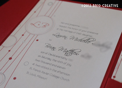 Red and White Wedding Invitations