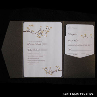 Fall Themed Wedding Invitations on Milwaukee Wedding Invitations     Brown And Ivory Fall Theme